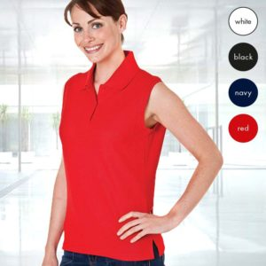 Ladies Sleeveless PC Pique Polo TPL02