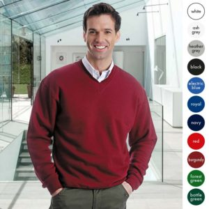 Mens 70/30CP V-neck Set-In Sweatshirt TSA02