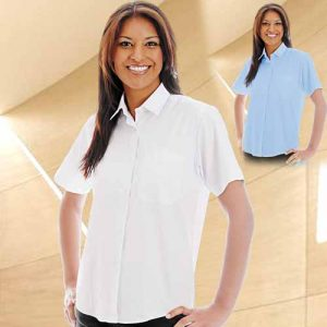 135gsm Ladies Oxford Blouse Short Sleeve - WBLL08