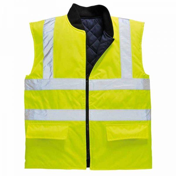 Hi Vis Reversible Bodywarmer - WBWA469-yellow2
