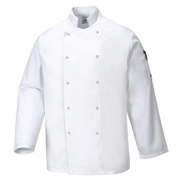 190g 65/35 PC Suffolk Chefs Jacket - WCJA833-white