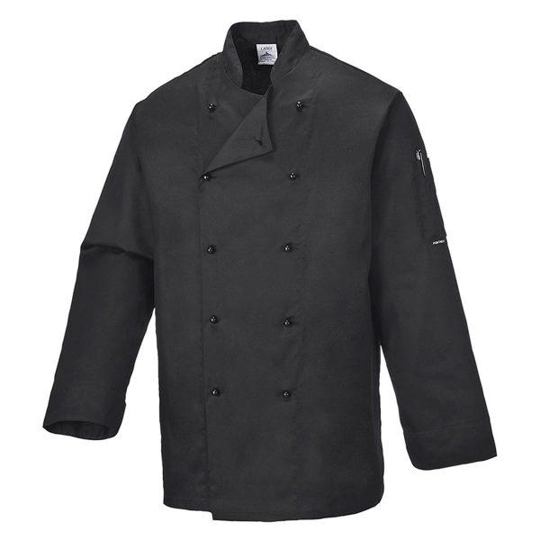190g Somerset Chefs Jacket - WCJA834-black