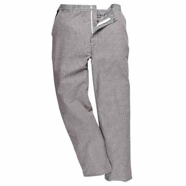 190g 65/35 PC 'Harrow' Chefs Trousers Regular - WCTRA068-Houndstooth