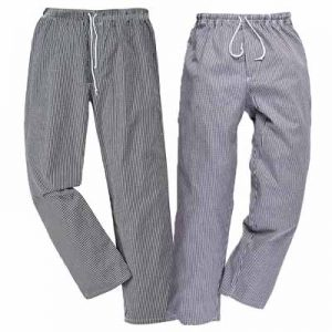 190g 100% Cotton 'Bromley' Regular Length Chefs Trousers - WCTRA079