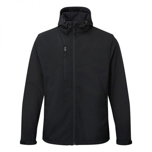 'HOLKHAM' Hooded Softshell Jacket - WJAA234-black