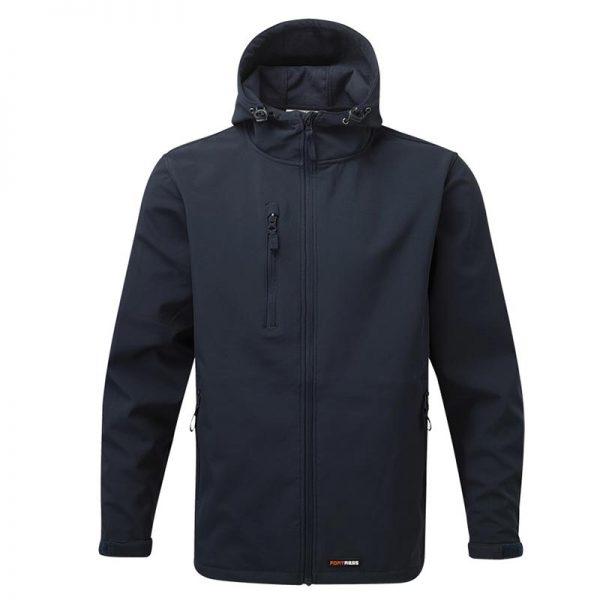 'HOLKHAM' Hooded Softshell Jacket - WJAA234-navy