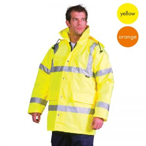 Hi Vis Best Value Traffic Jacket-WJAA354-model