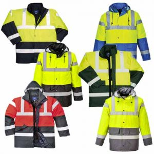 190g Hi-Vis Contrast Traffic Waterproof Jacket WJAA466 - main