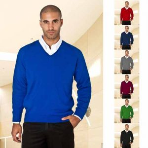300gsm Wool-Mix V-Neck Knitted Jumper - WJUA01