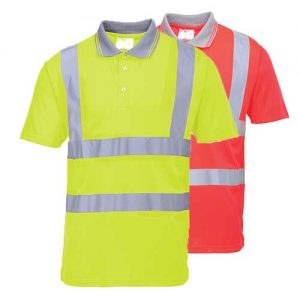 175gsm 100 Polyester Hi-Vis Short Sleeved Polo Shirt - WPOA477-main