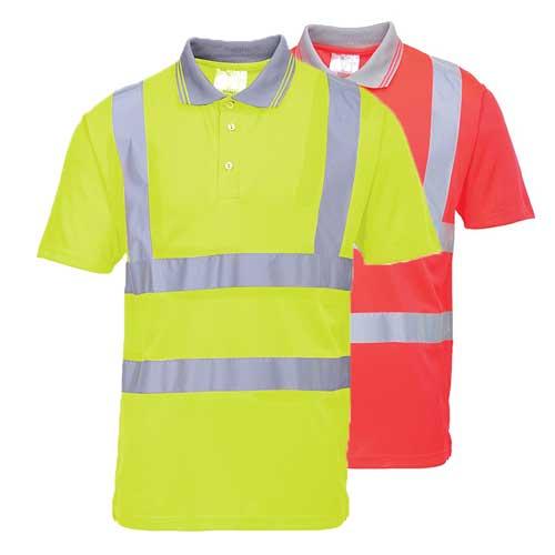 175gsm 100 Polyester Hi-Vis Short Sleeved Polo Shirt - WPOA477-main