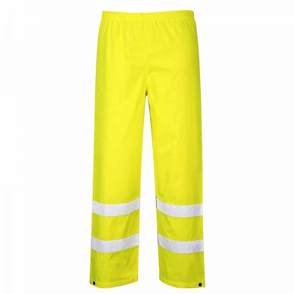 190gsm 100% Polyester Hi-Vis Traffic Waterproof Trouser - WTRA480-yellow