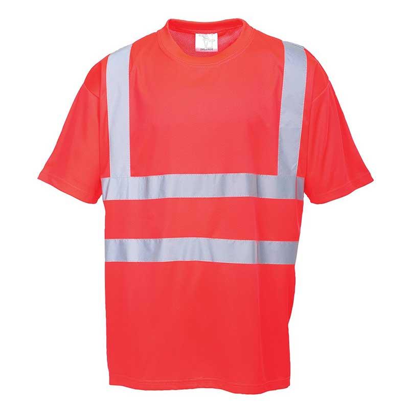 150g 100% Polyester Hi-Vis T-Shirt - WTSA478-red