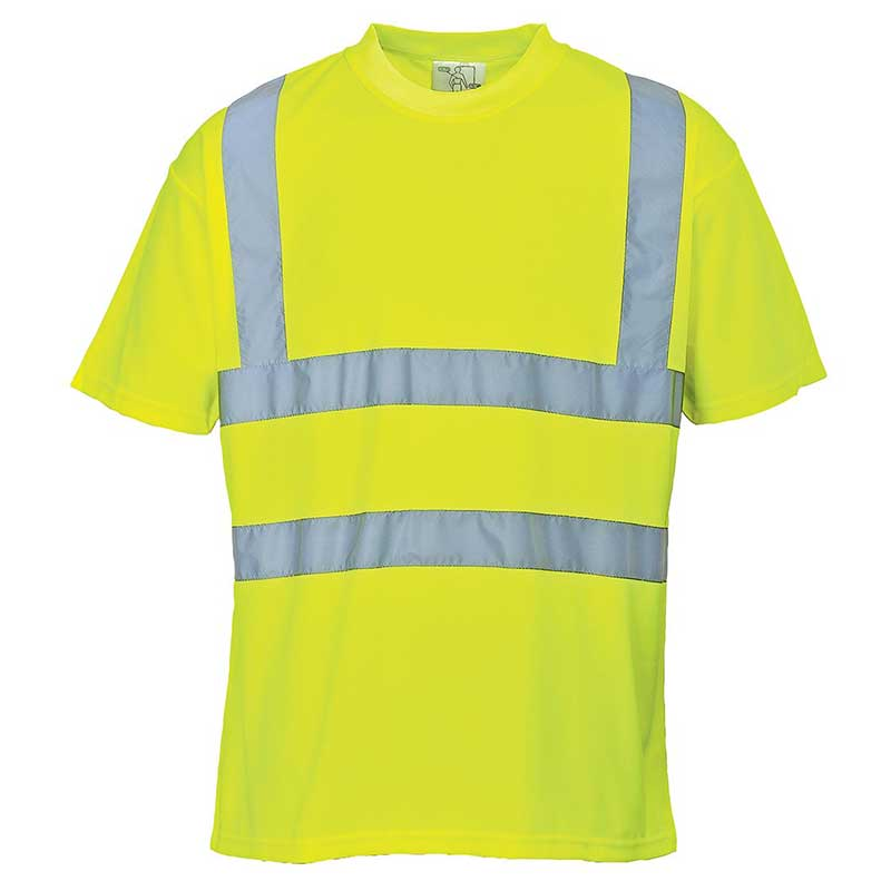 150g 100% Polyester Hi-Vis T-Shirt - WTSA478-yellow2