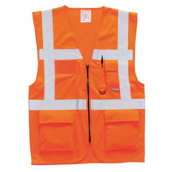 Hi-Vis Berlin Executive Vest - WWCA476-orange
