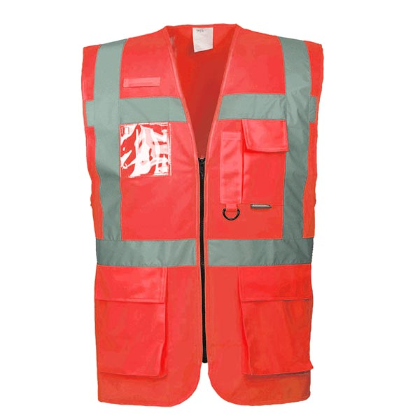 Hi-Vis Berlin Executive Vest - WWCA476-red