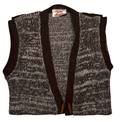 100% Acrylic Marl Waist Coat 2 Toggle Sleeveless - VCAA80-brown