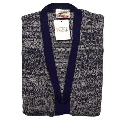 100% Acrylic Marl Waist Coat 2 Toggle Sleeveless - VCAA80-navy