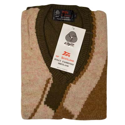 'Tops Of Scotland' Pure New Wool - VJUA12-brown