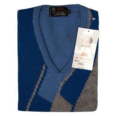 'Tops Of Scotland' Pure New Wool VJUA12-royal-sky