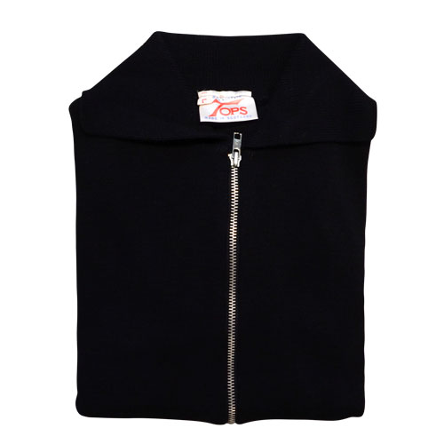 Jumper with Front Zip and Collar VJUA16-black