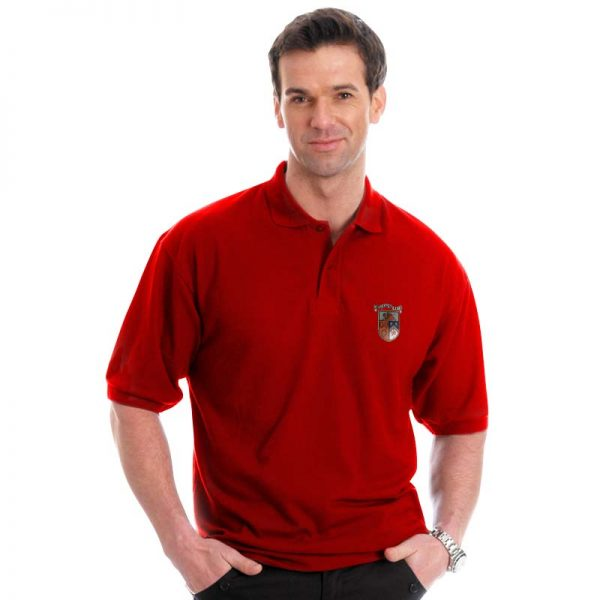210g 50/50 PC Mid-Weight Bell Baxter Pique Polo - TPA02-sweat-red