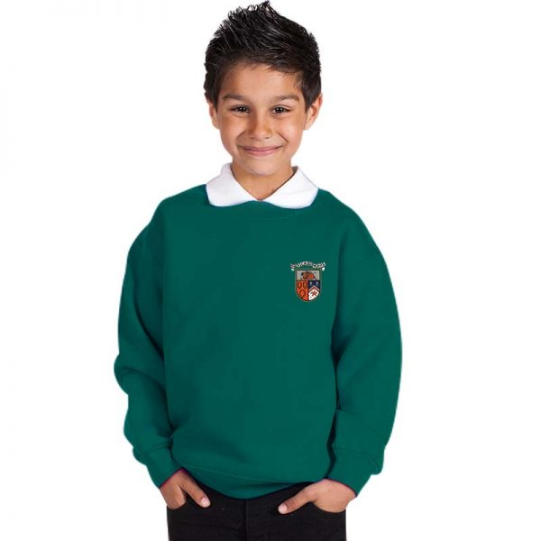 300g 70/30 CP Kids Premium Hi-Spec Set-In Bell Baxter Crew Sweatshirt - TSK01-sweat-forest