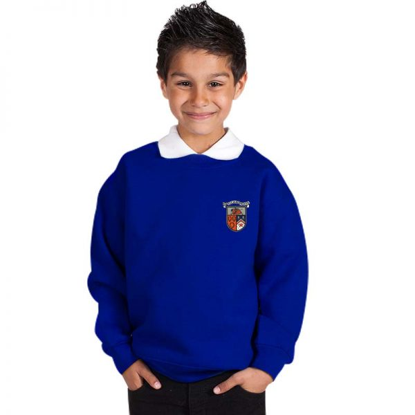 300g 70/30 CP Kids Premium Hi-Spec Set-In Bell Baxter Crew Sweatshirt - TSK01-sweat-royal