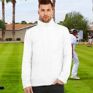180gsm 100% Polyester Middleweight Fleece Lined Bowling Jacket - BA656BOWLS