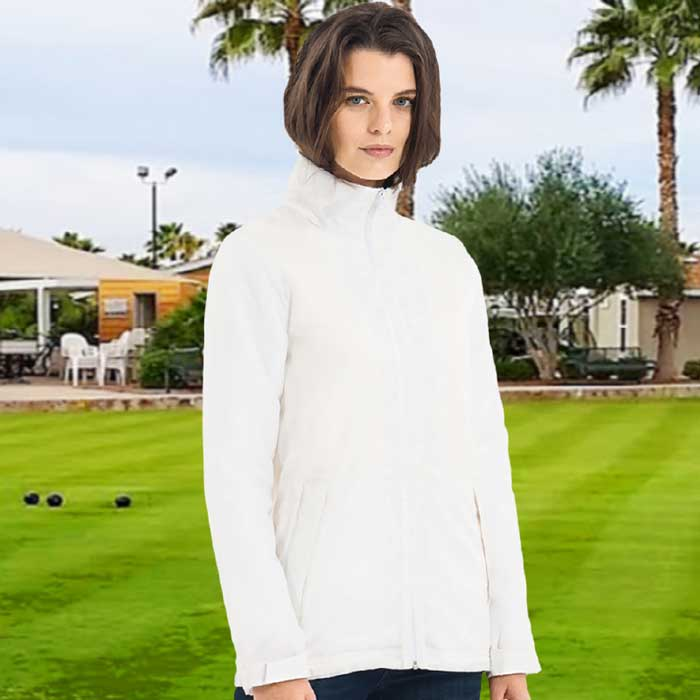 180gsm Ladies Middleweight Fleece Lined Bowling Jacket - BA656FBOWLS