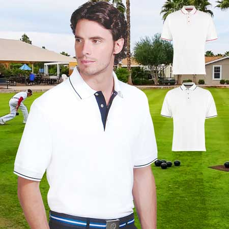 210gsm 100% Cotton Mens St Mellion Bowls Polo - KK606BOWLS