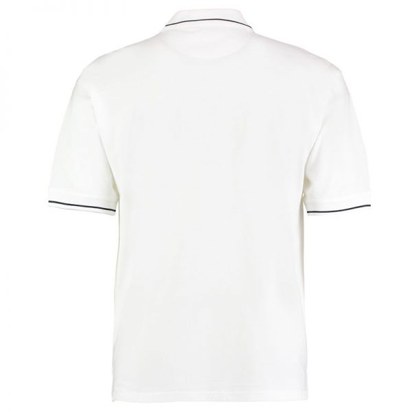 210gsm 100% Cotton Mens St Mellion Bowls Polo - KK606BOWLS-white-navy-back