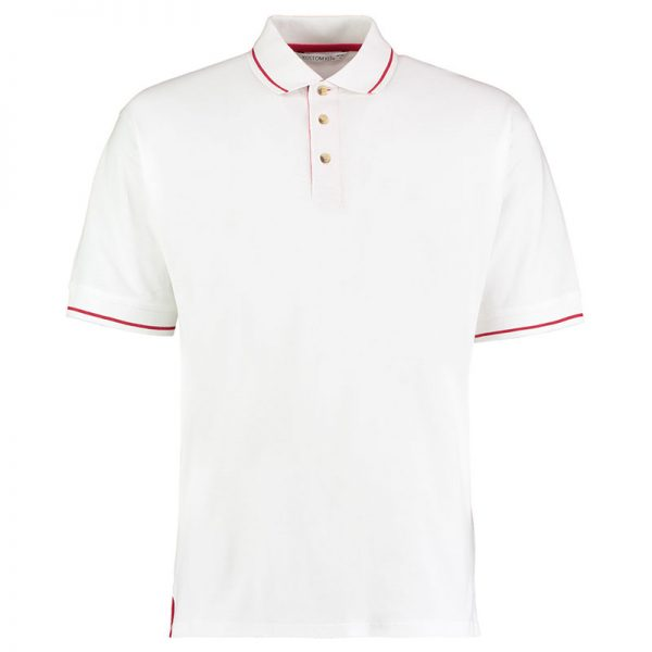 210gsm 100% Cotton Mens St Mellion Bowls Polo - KK606BOWLS-white-red