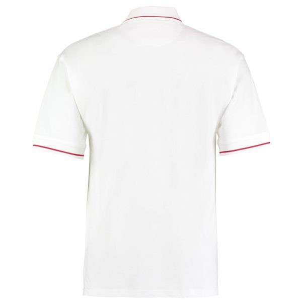 210gsm 100% Cotton Mens St Mellion Bowls Polo - KK606BOWLS-white-red-back
