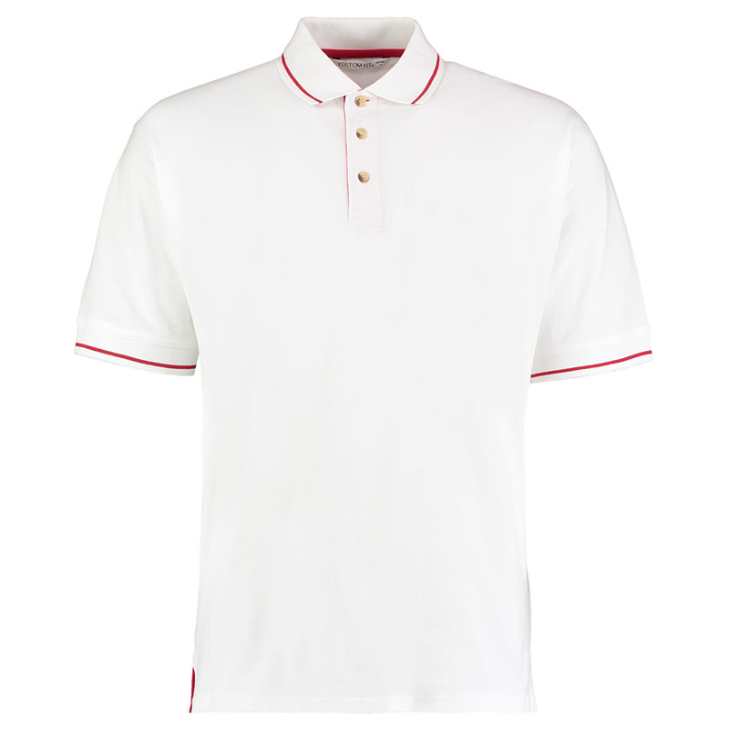 210gsm 100% Cotton Mens St Mellion Bowls Polo - KK606BOWLS-white-red