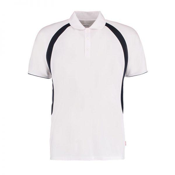 140gsm 100% Polyester Riviera Contrast Raglan Bowling Polo - KK974BOWLS-white-navy