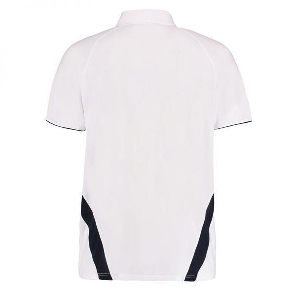 140gsm 100% Polyester Riviera Contrast Raglan Bowling Polo - KK974BOWLS-white-navy-back