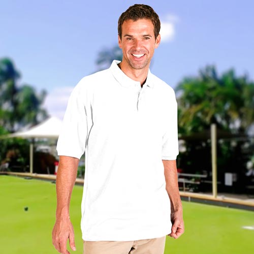 210g 50/50 PC Mid-Weight Short Sleeve Bowling Pique Polo - TPA02BOWLS