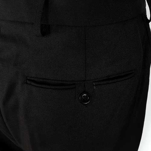 Mens Police Poly-Cotton Trousers Black - WTRPA49-details3