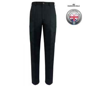 Mens Police Poly-Cotton Trousers Black with thigh pockets - WTRPA50