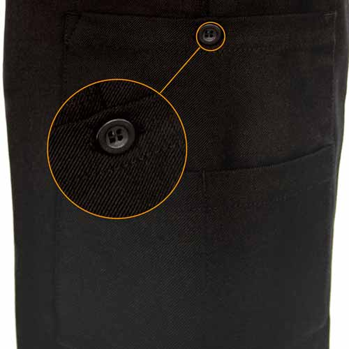 Mens Police Poly-Cotton Trousers Black with thigh pockets - WTRPA50-details5