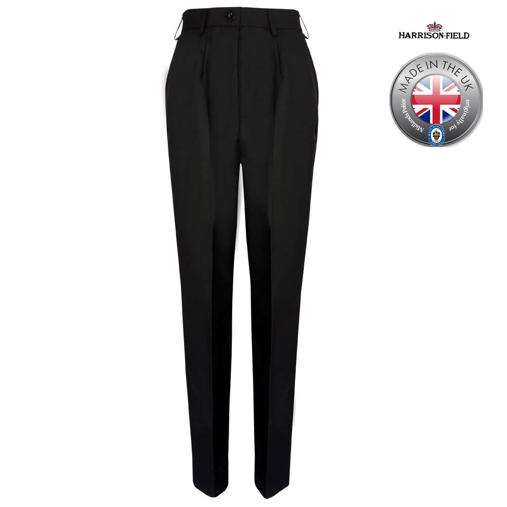 Ladies Police Poly-Wool Trousers Black - WTRPA51