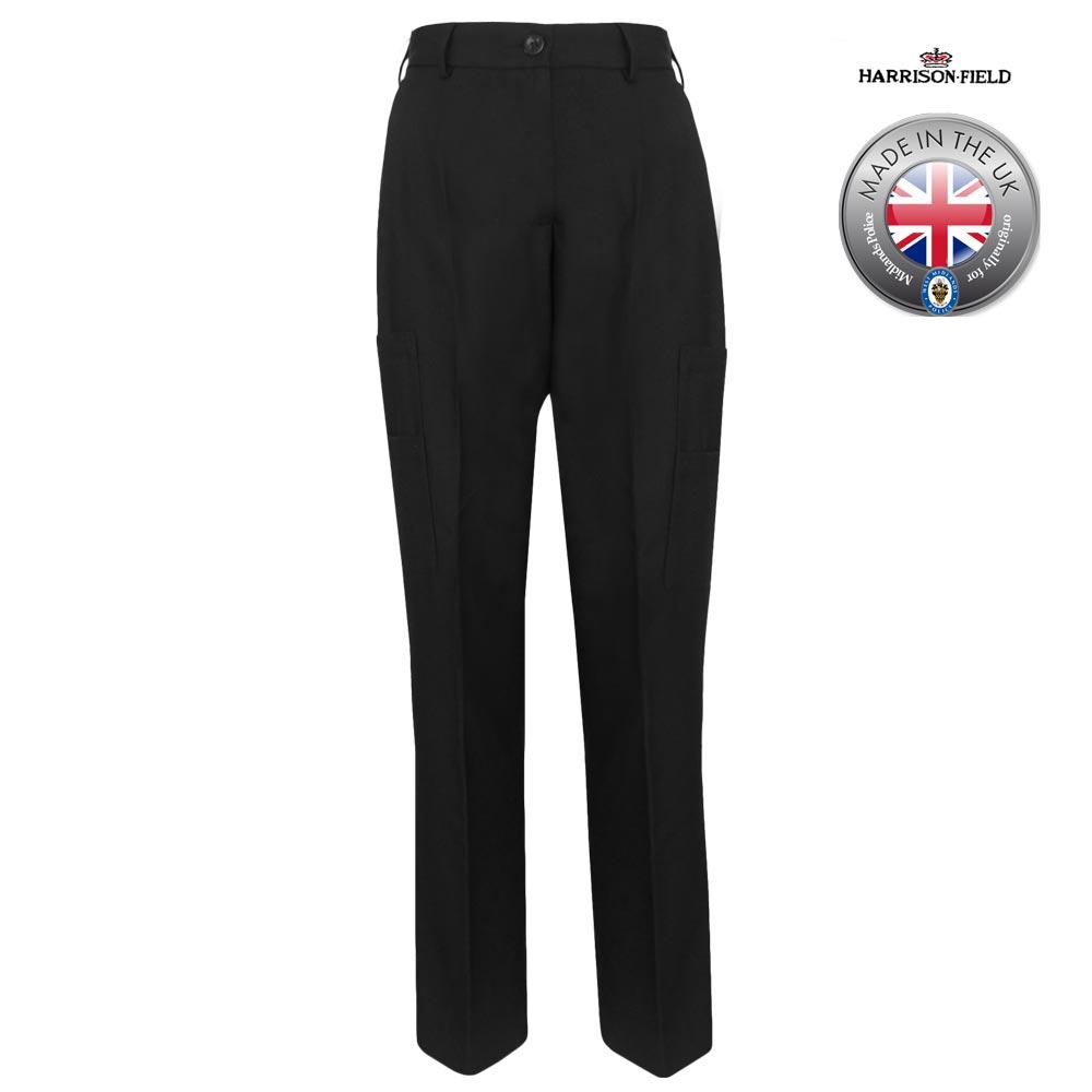 Ladies Police Poly-Wool Trousers Black - WTRPA52