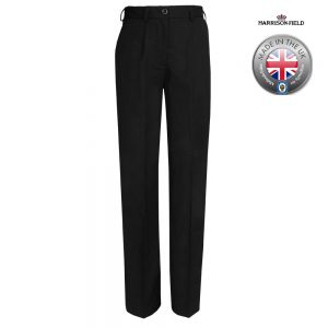 Ladies Police Poly-Cotton Trousers Black - WTRPA53