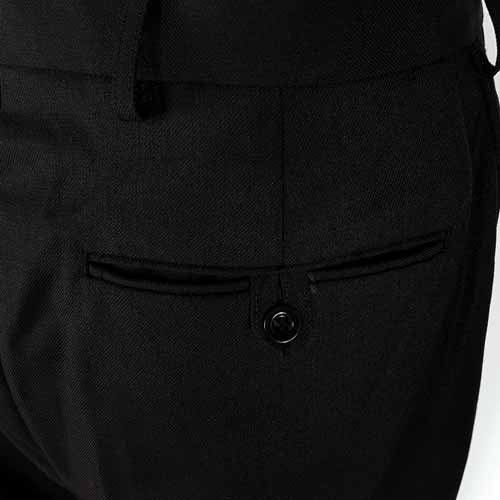 Ladies Police Poly-Cotton Trousers Black with thigh pockets - WTRPA54-details2