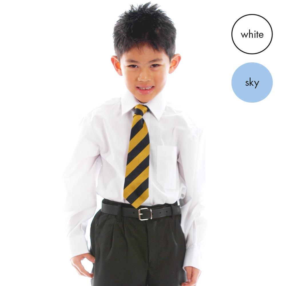 TWIN PACK - Boys Long Sleeve School Shirt CSHB01