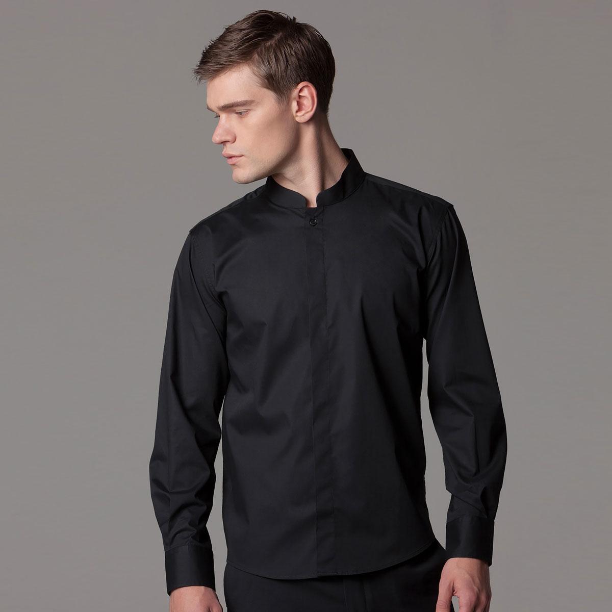 Mandarin Collar Hospitality Shirt Long Sleeve - KK123