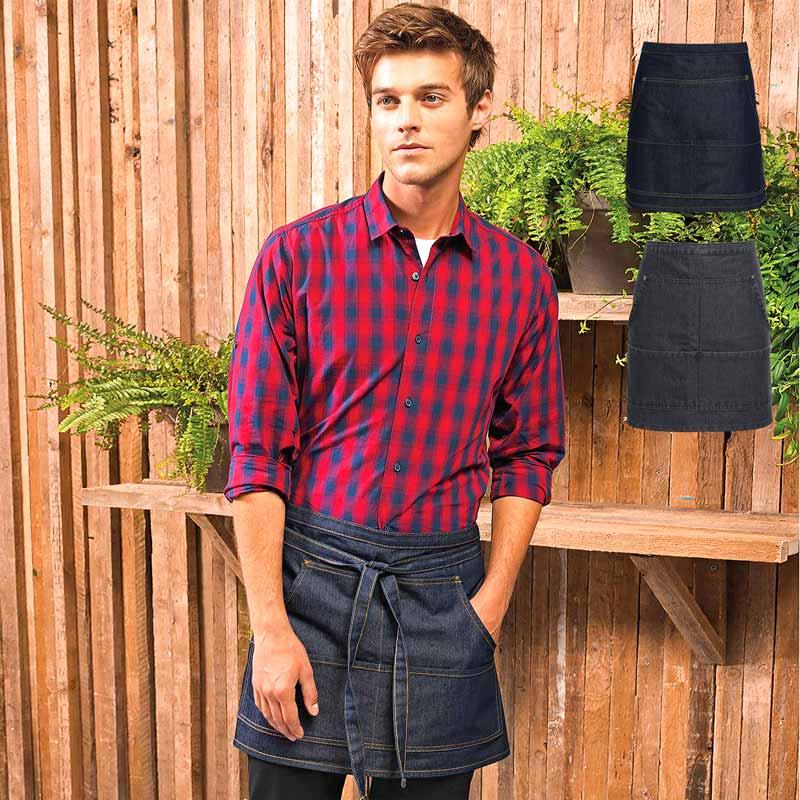Jeans Stitch Denim Waist Apron - PR125_INDIGO