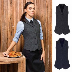 Ladies Lined Polyester Waistcoat - PR626